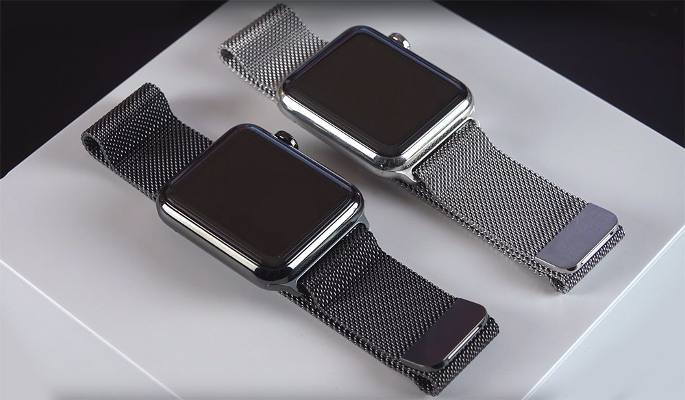 20191206 curea apple watch milanese loop negru si gri